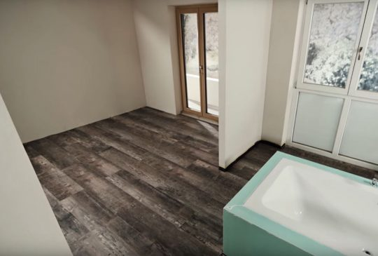 EGGER PRO Design – instalace lepením ve vlhkých prostorách